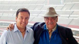Antonio Moreno junto a don Melquiades