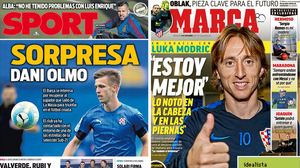 Modric and the academy player that Barcelona want to return