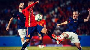 Rodrigo fue el autor de unos de los seis goles que España consiguió...