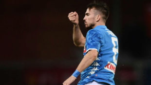 Fabián Ruiz celebra su gol contra el Nápoles.