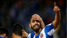 Borja Iglesias celebrando un gol.