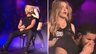 Madonna se atrevió a besar a Drake durante un concierto, pero la...