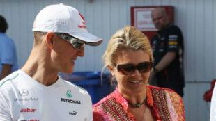 Corina y Michael, en julio de 2012.