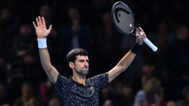 Novak Djokovic celebra su segundo triunfo en la Copa Masters de...