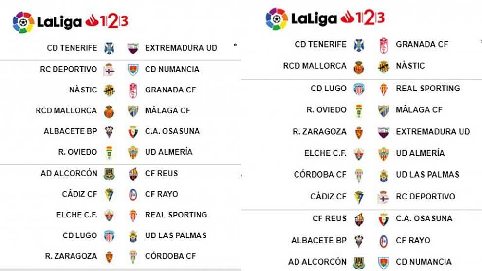 Calendario Liga Segunda.Liga 123 Ya Tenemos Todos Los Horarios De Diciembre Salvo Una