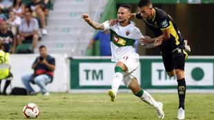 Iván Sánchez, durante el Elche-Granada de la presente temporada.