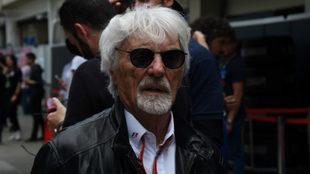 Bernie Ecclestone, en el circuito de Interlagos.