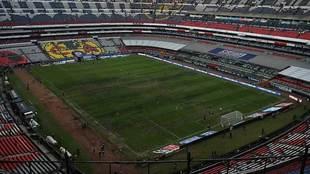 Panorámica del Estadio Azteca previo al Cruz Azul vs Lobos BUAP.