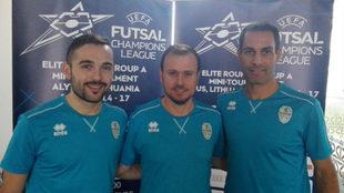 Gonalo Galán, Juan Francisco Fuentes y Fernandao, en Lituania.