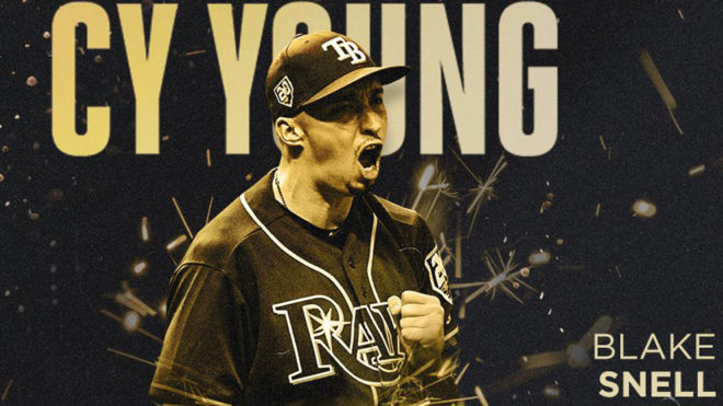 Blake Snell gana el Cy Young.