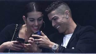 Georgina Rodríguez y Cristiano Ronaldo en las Finales ATP de Londres