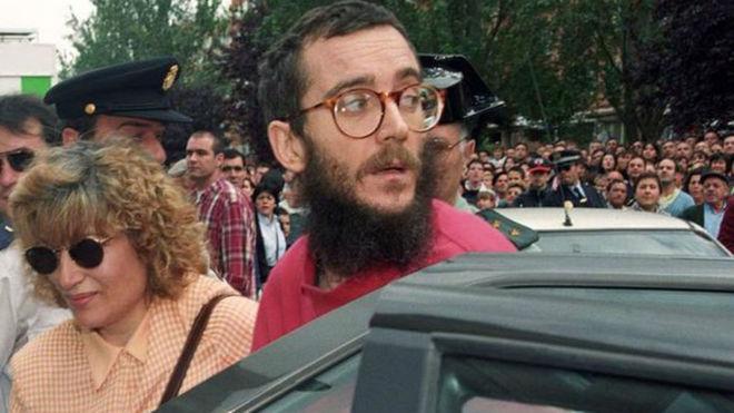Momento de la liberación de Ortega Lara, el 1 de julio de 1997
