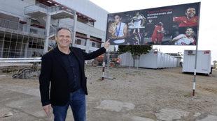 Joaquín Caparros, en la Ciudad Deportiva del Sevilla este miércoles.