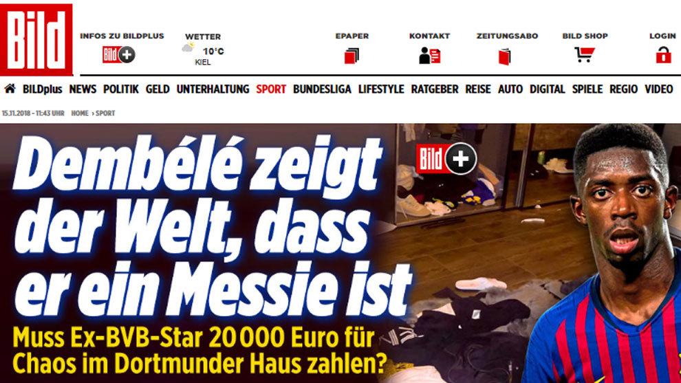 Imagen de la noticia del diario 'Bild'