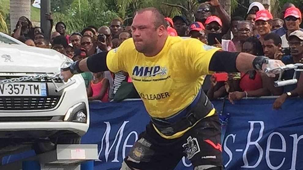 Dainis Zageris, ganador del Strongman World Champion 2018