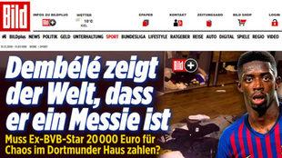 Imagen de la noticia sobre Dembélé en 'Bild'