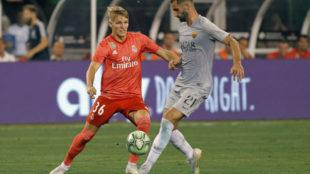 Odegaard, durante el partido ante la Roma de la pasada pretemporada