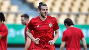 Gareth Bale, durante un entrenamiento con Gales