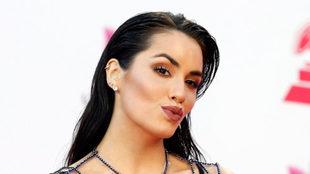Rosalía durante la alfombra roja de los Latin Grammy