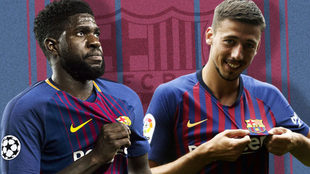 Samuel Umtiti and Clement Lenglet
