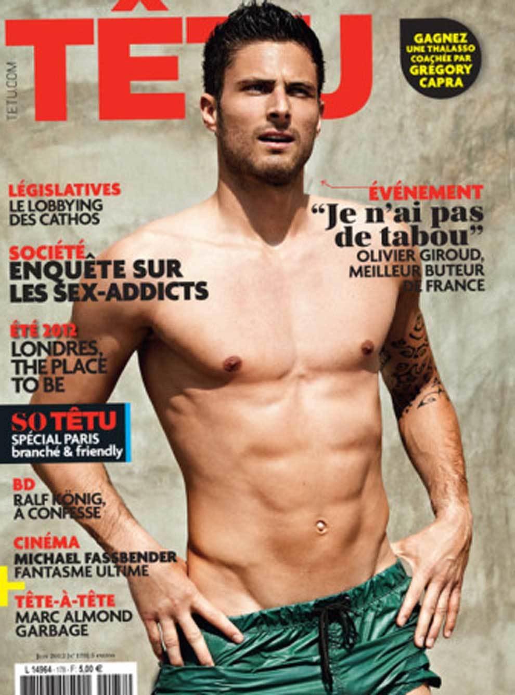 Giroud fue portada de la revista gay Tetu en 2012.