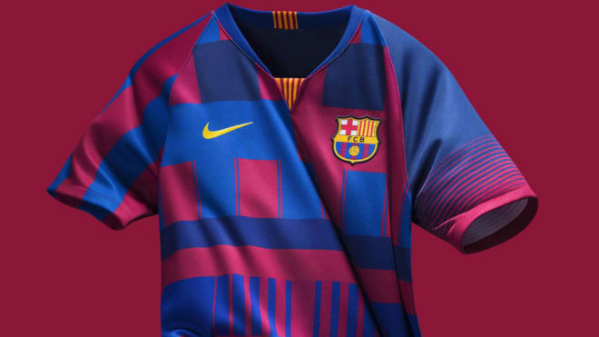 ce4f0a21b Liga Española  La llamativa camiseta del Barcelona que nunca se ...