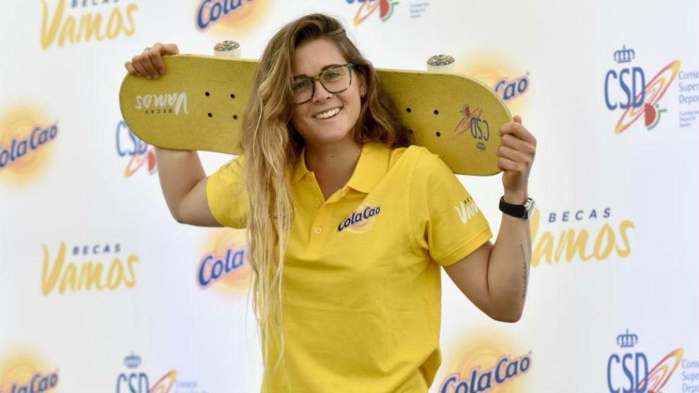 Gisela Pulido, durante el acto de las Becas Vamos de ColaCao y el CSD.