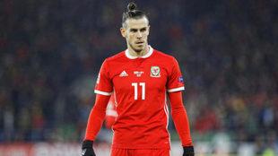 Bale, durante el duelo ante Dinamarca.