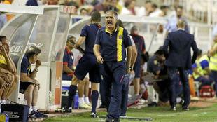 Paco Herrera, en su anterior etapa como entrenador de Las Palmas