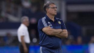 Martino en su etapa como entrenador de la Albiceleste.