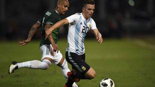 Lo Celso, en su partido ante México.