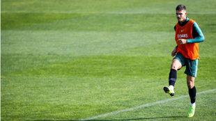 André Silva, en un entrenamiento con Portugal.