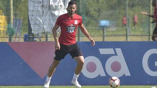 Pablo Marí durante un entrenamiento con el Deportivo de La Coruña.