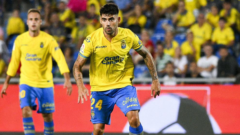 Tana en un partido de la UD Las Palmas.