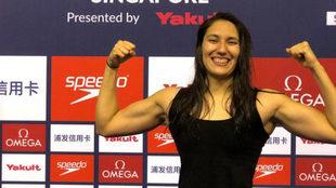 Liliana Ibañez logra otra marca en Singapur.