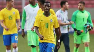 Vinícius Junior, con la selección brasileña.