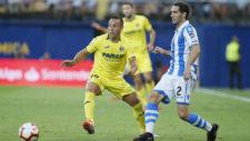 Zaldua, durante el partido con el Villarreal de esta temporada