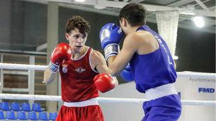 Gabriel Escobar (22 años) en su semifinal contra Nodari Darbaidze.