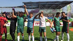 México festeja su pase a la final de la HWC 2018