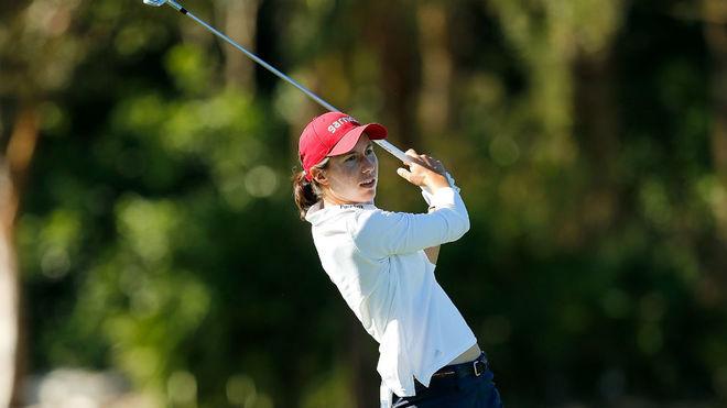 Carlota Ciganda, durante una de las jornadas del torneo