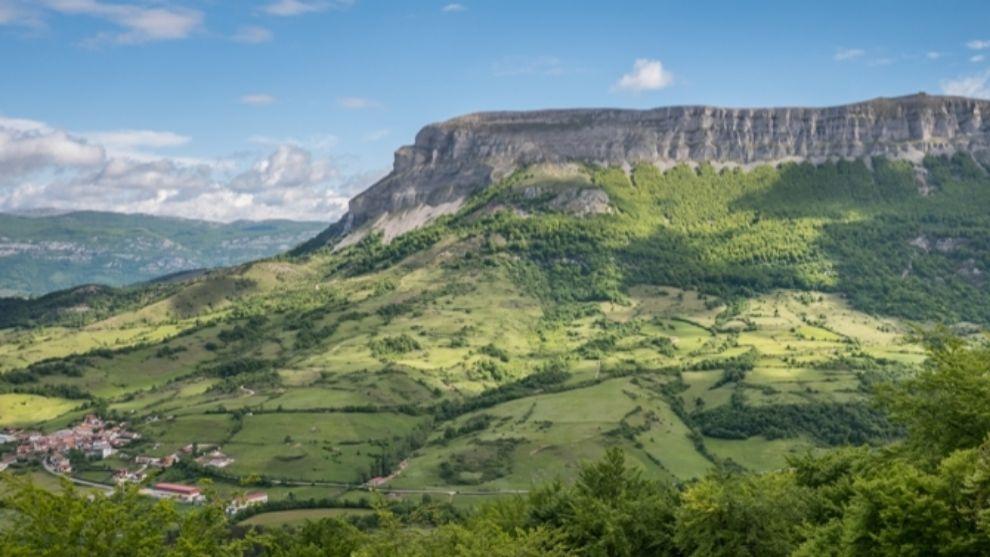 Una imagen del monte Beriain, en Navarra