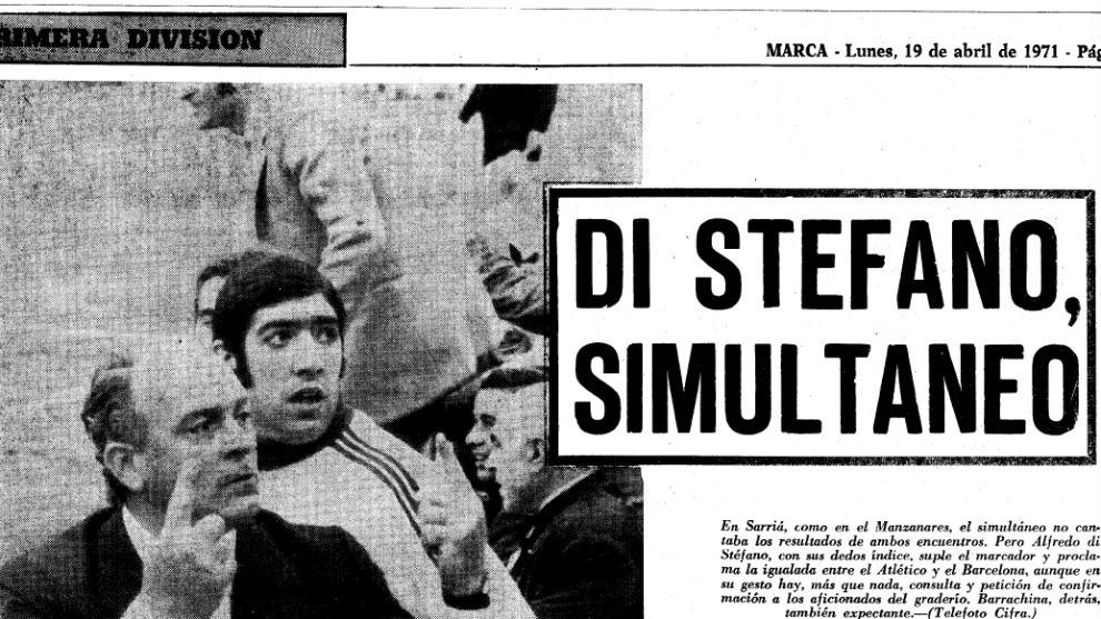 Alfredo Di Stefano pregunta si el resultado final entre Atlético y...
