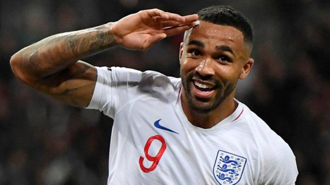 Callum Wilson celebra un gol en Wembley