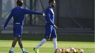 Inui y Boudebouz, en un entrenamiento.