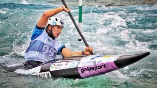 Mailane Chourraut, durante una competición.