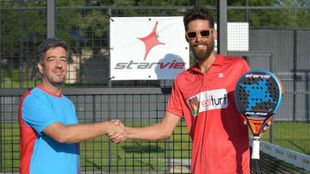 Francisco Riveroll junto a Alberto Figueiras, distribuidor oficial...