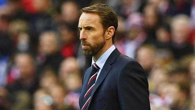 Gareth Southgate, seleccionador de Inglaterra, en un momento del...