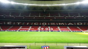 El nuevo césped del Wanda Metropolitano