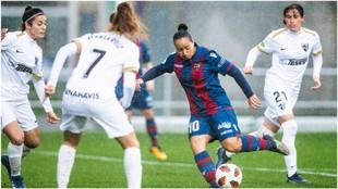 Charlyn Corral, en el partido ante el Málaga.