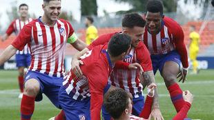 Los jugadores del Atlético de Madrid en una imagen de esta temporada.